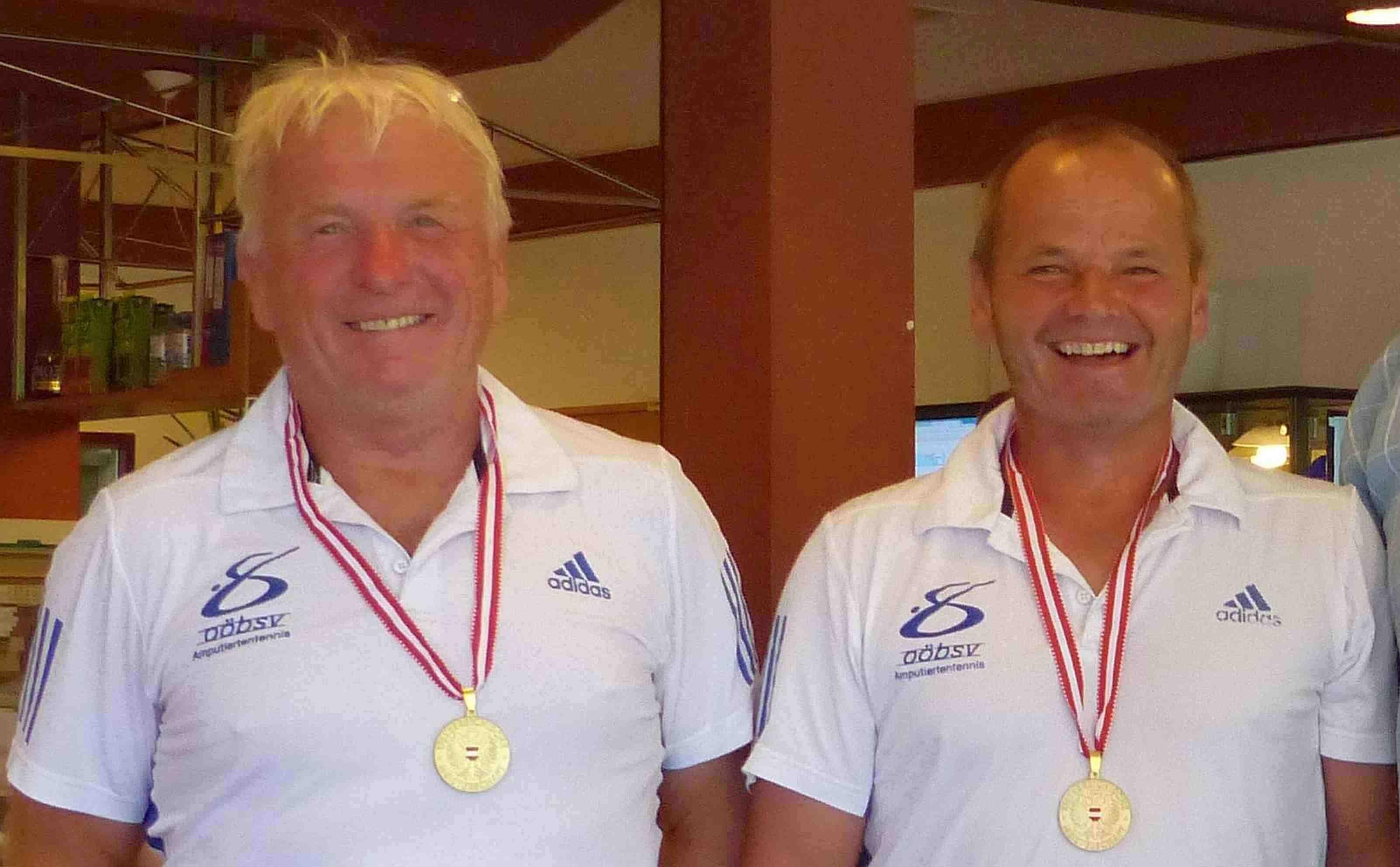 IManfred Eisenknapp und Karl Wieser vom UBSV Attnang Vöcklabruck holen sich in Abtenau (S) den  10. Österreichischen Meistertitel im Amputierten Tennis