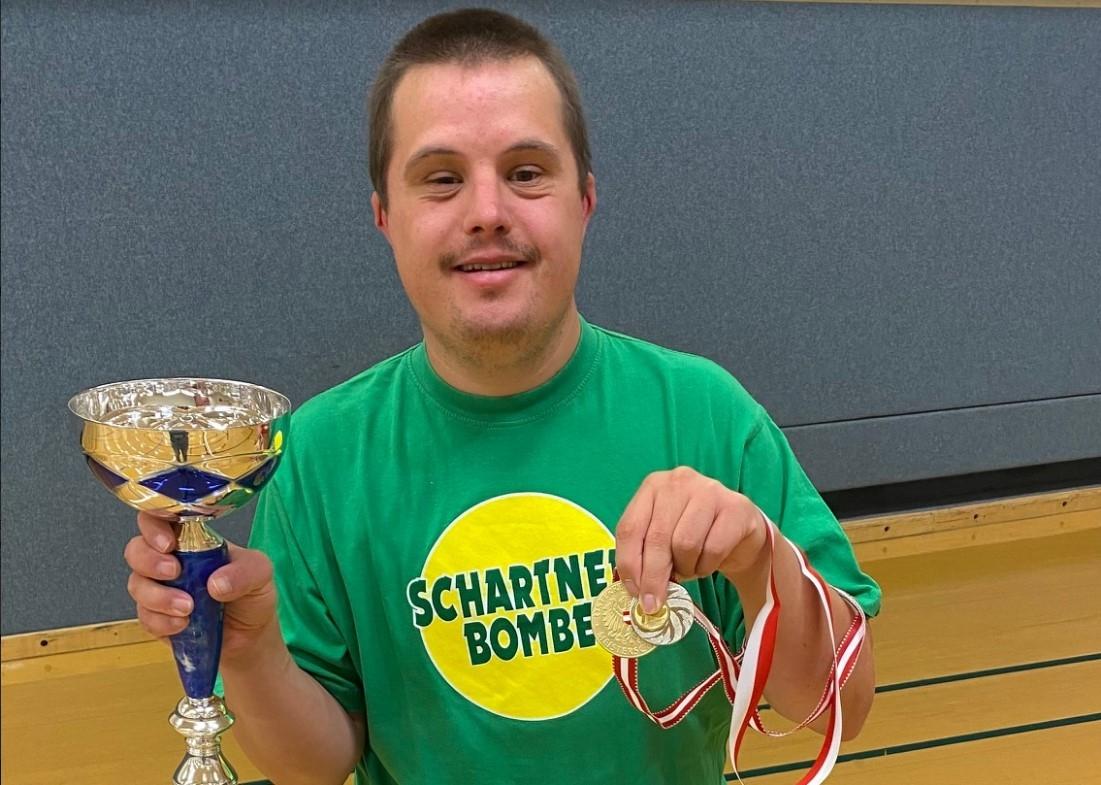 IDominik Altmann holte sich den österreichischen Meisterschaftstitel im Tischtennis Down Syndrom