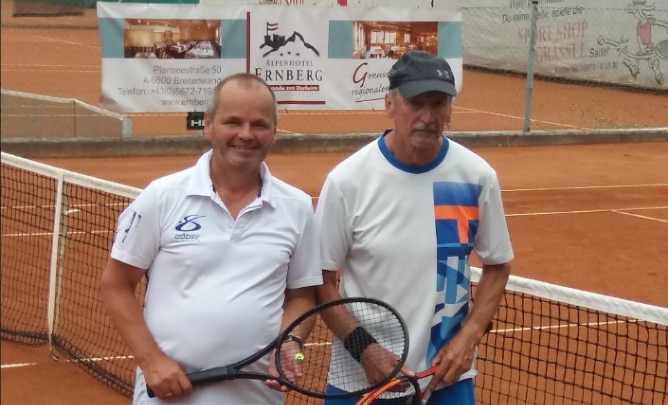IDoppel-Vizemeistertitel bei der ÖM Tennis für Amputierte durch Manfred Eisenknapp und Ernst Ebner