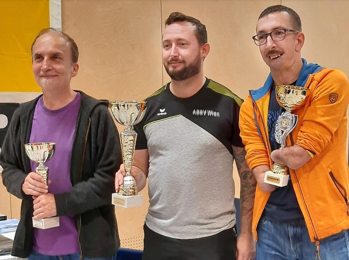 IVizetitel für Robert Huber beim ÖBSV Cup Tischtennis